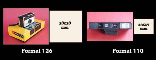 Numérisation des négatifs formats 110 et 126