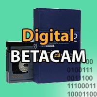 Numérisation de cassettes vidéo Digital Betacam