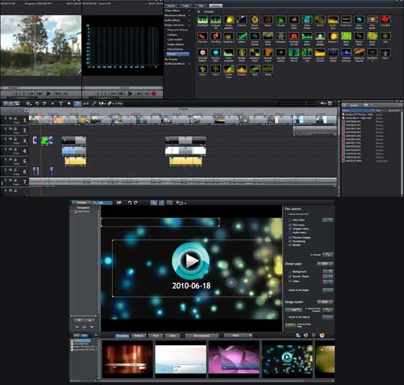 Montage vidéo sur ordinateur puissant