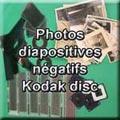 Numérisation de photos, diapositives, négatifs, kodak disc