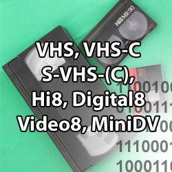 numérisatin de toutes cassettes VHS miniDV hi8...