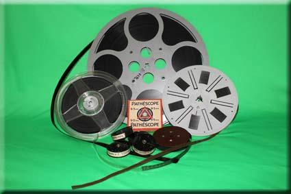 Bobines de film 8mm et 16mm