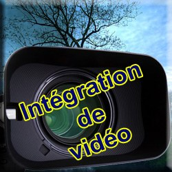 Intégration de vidéo dans le montage photo