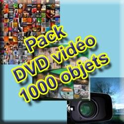 Pack DVD Vidéo 1000 objets