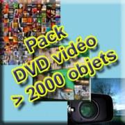 Pack DVD Vidéo > 2000 Objets