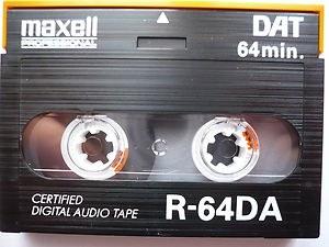 Numérisation de cassette audio DAT