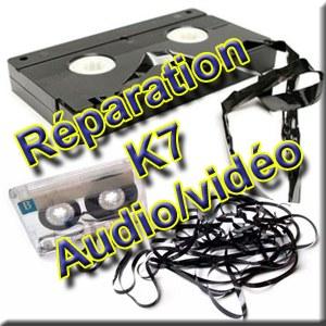 Réparation de cassette (audio ou vidéo)
